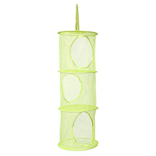 Demiawaking 3 Hängeregal Net Kinder Spielzeug Organizer Tasche (Grün)