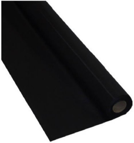 Creative Converting 783260 Touch of Color Tablecover Banquet Roll, 250', Black Velvet