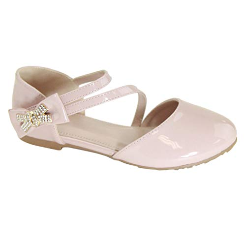 Girls' Shoes Girl's Ballet Flat Ankle Strap Shoes Party Dress Shoes Pink 1