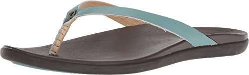 OLUKAI Women's Ho'Opio Sandal, Mineral Blue/Dark Java, 11 M US ()