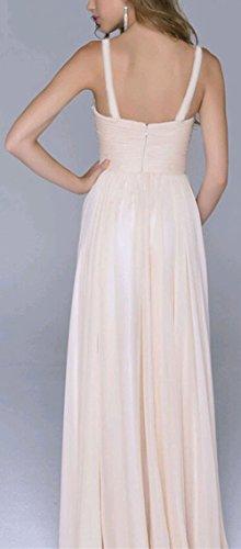 677a0fadcd7 Damen Partykleid Elegant V-Ausschnitt Rückenfrei Maxi Lang Pailletten  Chiffon Kleid Abendkleid Cocktailkleid Evening Dress ...