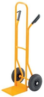 QUIPO Stapelkarre aus Stahlrohr - Tragfähigkeit 200 kg , Luftbereifung Schaufelmaße BxT 280 x 255 mm - Karre Ladekarre Paketkarre QUIPO-Transportgerät Sackkarre Stapelkarre Stappelkarren