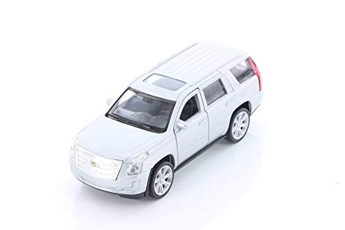 (Welly 2017 Cadillac Escalade SUV, Silver 43751D - 1/39 Scale Diecast Model Toy Car but NO Box )
