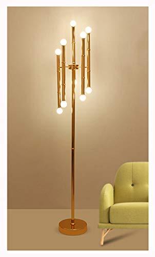 BEN-YI Lámpara de pie Nordic Moderno Lámpara de pie de bambú ...