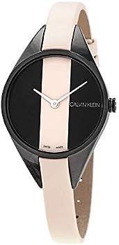 Calvin Klein Rebel Cream and Black Dial Ladies Watch