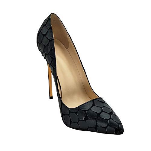 Chaussures Taille Hauts Slip À Black nbsp; 34 nbsp;2018 On 43 Marque Parti Femmes Super Grande nbsp; Talons Hoesczs Mince Bout Femme Toe 6gIC0qCw