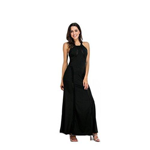 Vestidos de S noche Color baile de Size mujer Black Black fiesta de para Vestido r67xpr