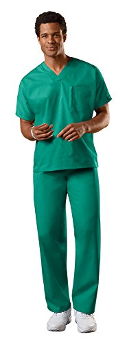 Cherokee Uniforms Authentic Workwear Unisex Scrub Set (Surgical Green, (Poly Set Green)