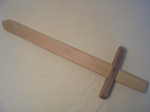 Rustic Wooden Toy Sword Made in USA from Natural Wood