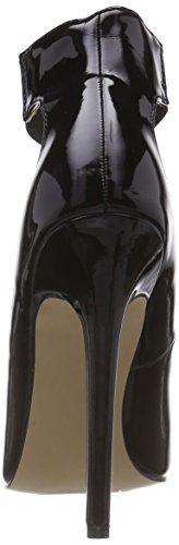 Mujer Al Negro Cierre Zapatos De Pleaser Con Material Sexy Tobillo 33 Sintético AxvqZv