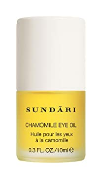 SUNDARI Chamomile Eye Oil 0.3 fl oz Reduce under-eye fine lines and wrinkles in 4 weeks All Natural Performance Tested