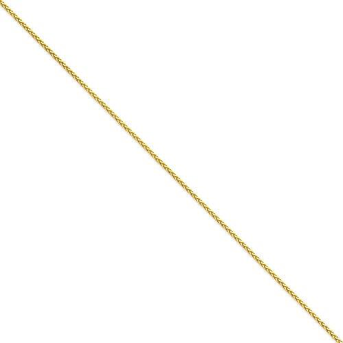 """Taille 1,9 mm 14 carats Diamant rond Bracelet chaine de blé 8 """"- JewelryWeb"""