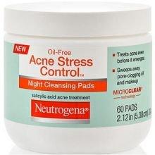 Neutrogena Oil-Free Acne Stress Control Night Cleansing Pads