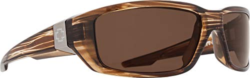 Spy Optic Dirty Mo Polarized Wrap, Brown Stripe Tortoise, 59 mm