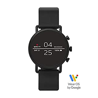 Skagen Connected Falster 2 Stainless Steel and Silicone Touchscreen Smartwatch, Color: Black (Model: SKT5100) (B07H943BRX) | Amazon Products