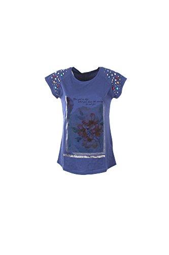 T-shirt Donna Yes-zee M Blu T217 V100 Primavera Estate 2017