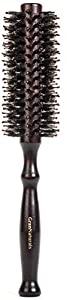 Boar Bristle Round Styling Hair Brush - 1.75 Inch Diameter - Blow Dryer & Curling Roll Hairbrush with Natural Wooden Handle for Women and Men - Used while Blow Drying to Style, Curl, and Dry Hair by Gran Goods