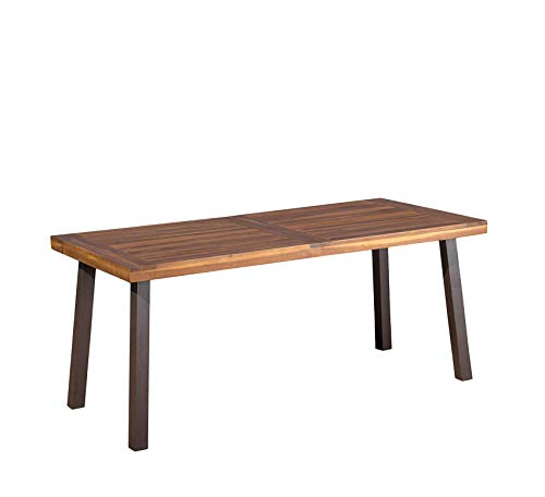 Furniture Daria Natural Stained Acacia Wood Dining Table Home Office Commerial Heavy Duty Strong Décor