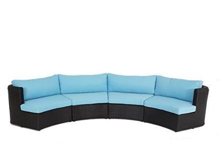 Amazon.com: Muebles sofá seccional de mimbre al aire última ...