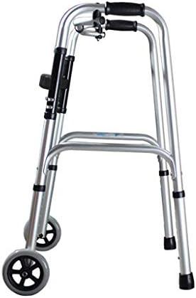 Älteres Untaugliches Sporttraining, Fahrbarer Gehender Rahmen Faltbar (Color : Silver)