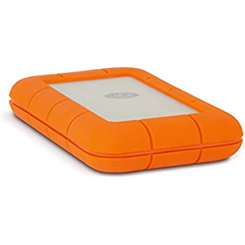 LaCie Rugged Thunderbolt Mobile Hard Drive w/ Integrated Thunderbolt Cable 250GB SSD (9000490)