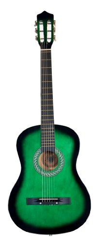 38'' GREEN Acoustic Starter Guitar (7/8 Size) & DirectlyCheap(TM) Translucent Blue Medium Guitar Pick by Directly Cheap
