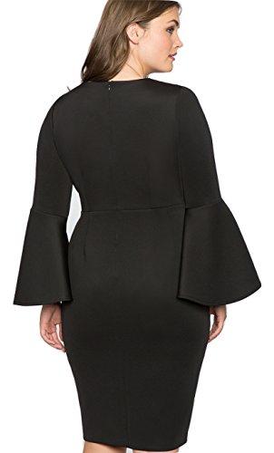 Designer Damen Kleid Einzigartig Schlauch Empire Abendkleid auch Große Größen, Bodycon Etui Frauen Hochwertig weite Ärmel Abendmode Festlich/Hochzeit/Spezielle Anlässe