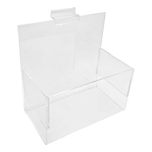 - PROLINEMAX 7'' x 4'' x 7'' Clear Acrylic Lucite Bin Holder Slatwall Display Rack Fixture