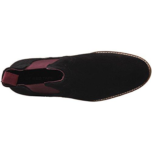 Unze Traje de Chelsea del ante de Newton de los hombres 'en el tamaño BRITÁNICO 7-11 de las botas Negro