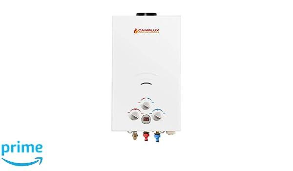 Camplux BW422 - Calentador de agua caliente para ducha, 16 L, propano sin depósito: Amazon.es: Bricolaje y herramientas