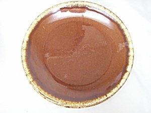 Vintage Brown Dinner Plate By Hull Hull Pottery Brown Drip