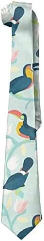 Cartoon Alien American Gentleman Tiny Tie Mens Polyester Silk Wide Ties National Bow Tie Day