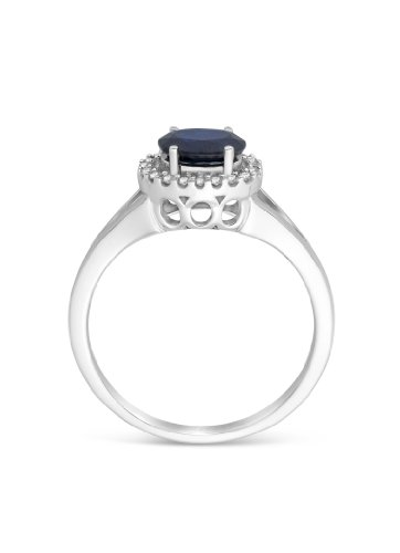 Miore - MH4032RM - Bague Femme - Or Blanc 14 Cts 585/1000 3.4 Gr - Saphir - T 52 (16.6)