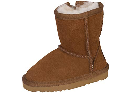Kemi Kid's Classic Bella Short Winter Boots – Fashion Winter Boots for Girls, Rust, US Size 11, Little Kid -