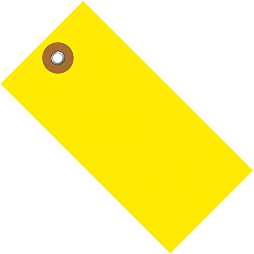 100 Yellow Small Case - Tyvek Shipping Tags, 3 3/4