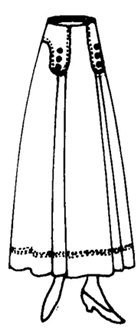 1915 Ladies' Six Gore Skirt
