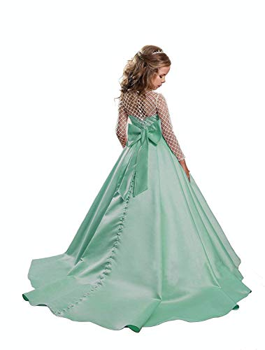 Carnivalprom Manches Femme Trapèze Robe Menthe Longues r6qrTSgxnw