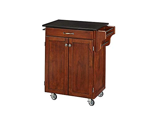 Hоmе Stylеs Home Decor 9001-0074 Create-a-Cart 9001 Series Cuisine Cart with Black Granite Top, Cherry, 32-1