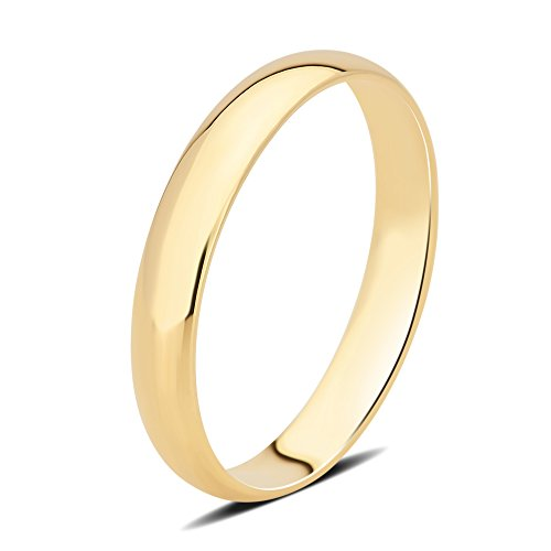 DiamondMuse 3 mm Plain Wedding Band in 10K Yellow Gold by DiamondMuse