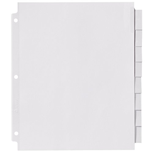 avery big tab inserts for dividers 8 tab template - avery big tab insertable extra wide dividers 8 clear tabs