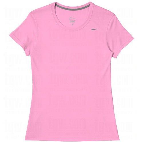 Nike Women's Dri-Fit Legend Short Sleeve T-Shirt, Pink, Large