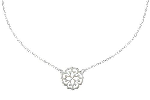 Les Poulettes Bijoux - Collier Argent Fleur de Lotus