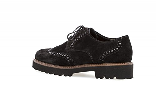 Gabor Ladies Fashion Derbys Black (cognac)