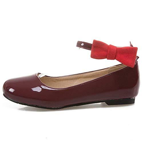 La Chaussures Bride Qiusa De Plates Bowknot Pompe Mode À Avec Femmes Cheville Des pE4qqFw