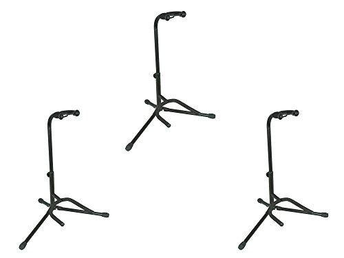 Guitar Stand Nitrocellulose - Musician's Gear Electric, Acoustic and Bass Guitar Stands (3-Pack)