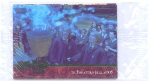 Harry Potter and the Goblet of Fire Factory Sealed 4 Card Green Foil Promo Pack