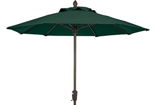 FiberBuilt Umbrellas 9MCRCB-8603 Market Umbrella, 9' Diameter Marine Grade Canopy, Forest Green ()