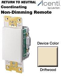 (Leviton Acenti Non-Dimming Remote - Natural Ac0sr-DFT Drift Wood color )