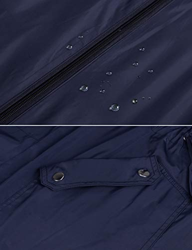Twinklady Rain Jacket Women Windbreaker Striped Climbing Raincoats Waterproof Lightweight Outdoor Hooded Trench Coats