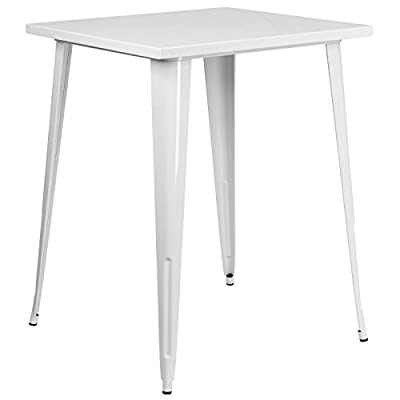 Flash Furniture 31.5'' Square Metal Indoor-Outdoor Bar Height Table